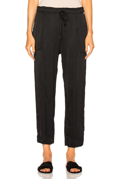 Raquel Allegra Drawstring Pant in Black