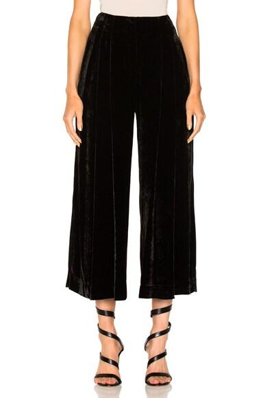 Velvet Culotte Pants