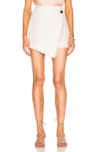 Raquel Allegra Wrap Skirt in Dirty White