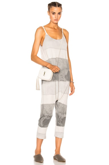 Raquel Allegra Drop Rise Romper in Gray Ink Tie Dye