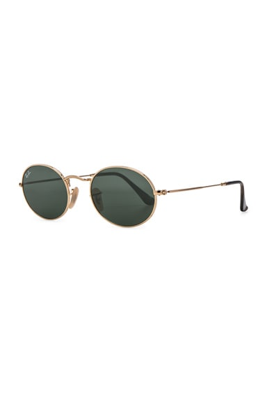 Oval Flat Sunglasses