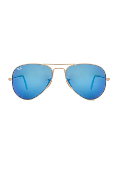 Ray-Ban Aviator Sunglasses in Gold & Blue