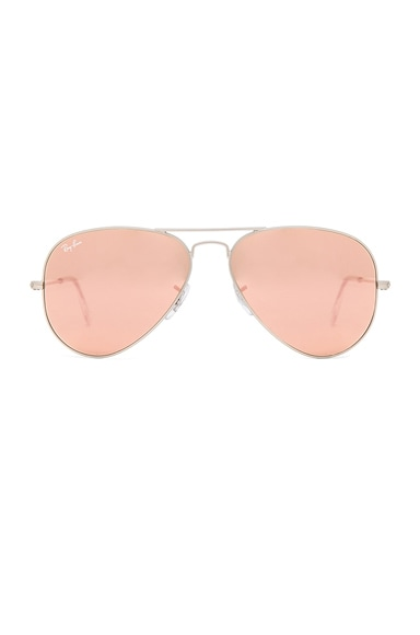 Ray-Ban Aviator Sunglasses in Brown & Pink
