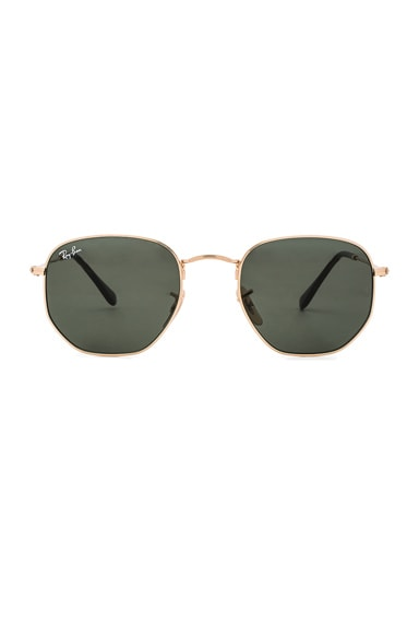 Ray-Ban Hexagon Sunglasses in Gold