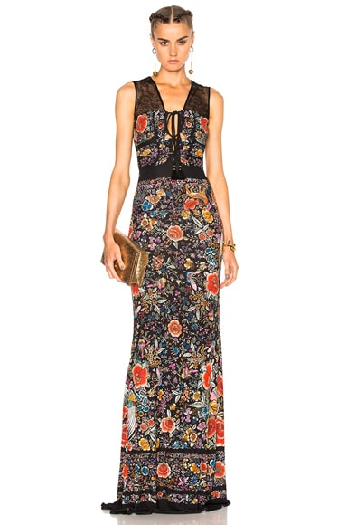 Printed Knit Maxi Dress