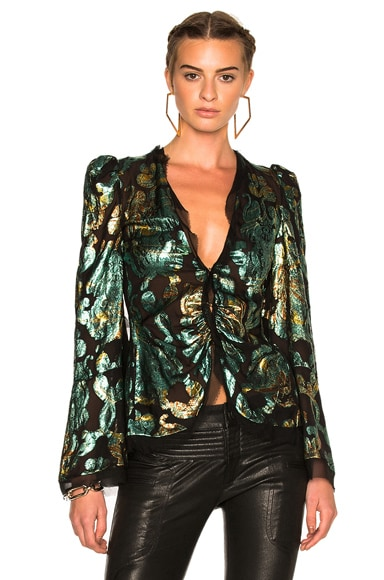 Roberto Cavalli Woven Blazer in Black & Multi