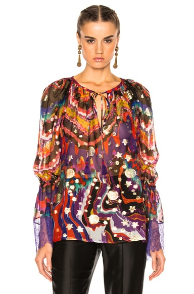 Printed Woven Blouse