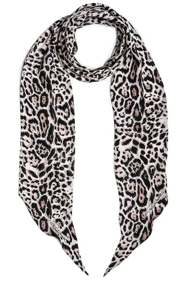 Roberto Cavalli Printed Light Satin Scarf in Leopard