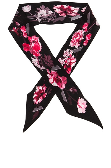 Rockins Flora Super Skinny Scarf in Pink