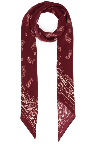 Rockins Guns N' Rockins Classic Skinny Scarf in Red