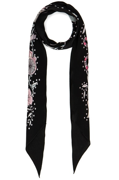 Rockins for FWRD Desert Trip Classic Skinny Scarf in Black