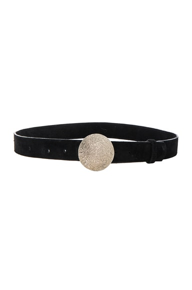 Rachel Comey Bard Belt in Black Suede