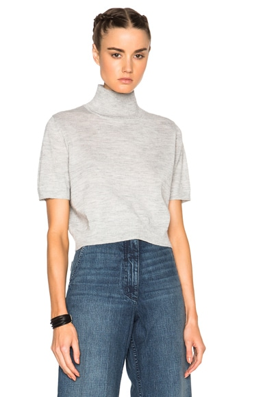 Rachel Comey Cropped Sweater in Heather Grey