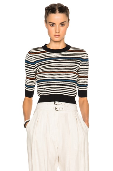 Rachel Comey Cropped Pullover Sweater in Multi