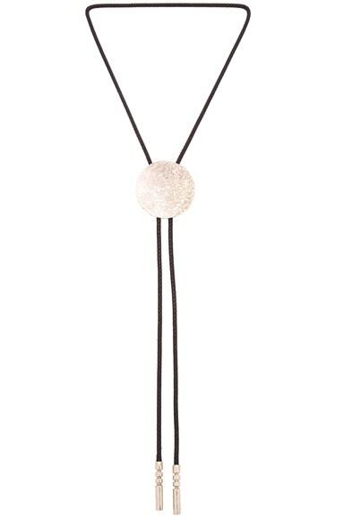 Rachel Comey Bard Bolo Necklace in White Bronze & Black