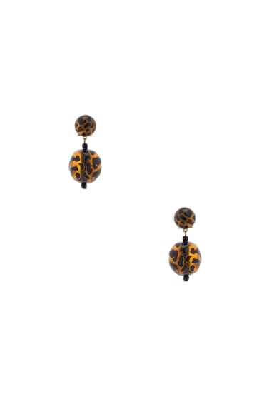 Rachel Comey Paso Earrings in Leopard