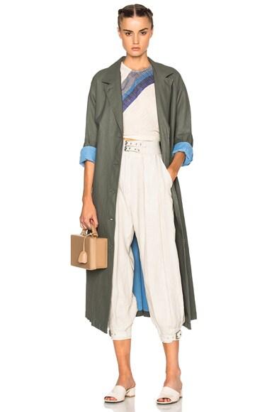 Rachel Comey Zia Trench Coat in Olive