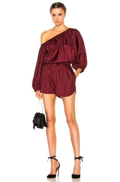 Rachel Comey Smokey Romper in Wine