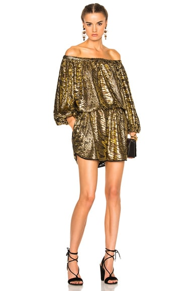 Rachel Comey Smokey Romper in Gold