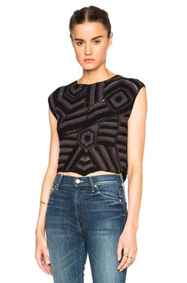 Rachel Comey Crochet Shell Top in Shaded