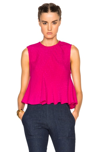 Rachel Comey Lovell Top in Hot Pink
