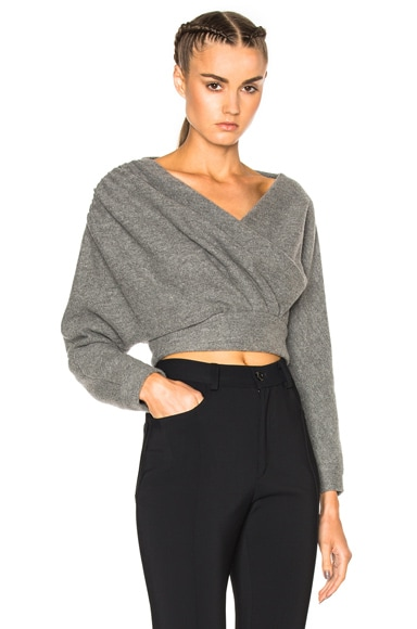 Rachel Comey Francis Top in Heather Grey