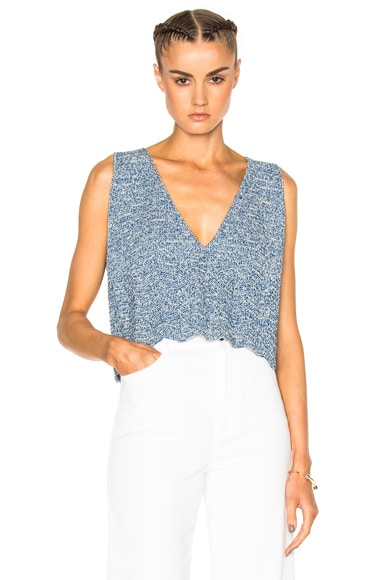 Rachel Comey Hewson Top in Blue & Natural