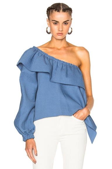 Rachel Comey Georgia Top in Azure