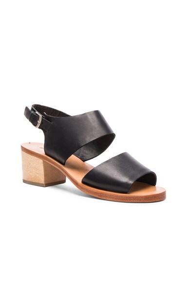 Leather Tulip Sandals