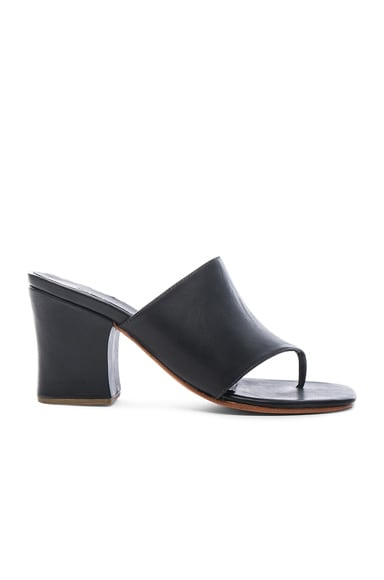 Rachel Comey Leather Topaz Heels in Polished Black