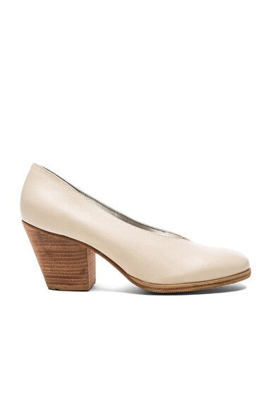 Rachel Comey Leather Falk Heels in Bone Floater