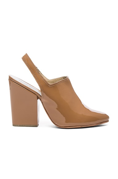 Rachel Comey Patent Leather Kai Heels in Toffee Patent