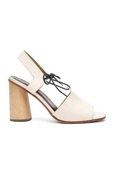 Rachel Comey Patent Leather Melrose Heels in Creamsicle Patent
