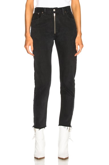 LEVI'S High Rise Zip Front Ankle