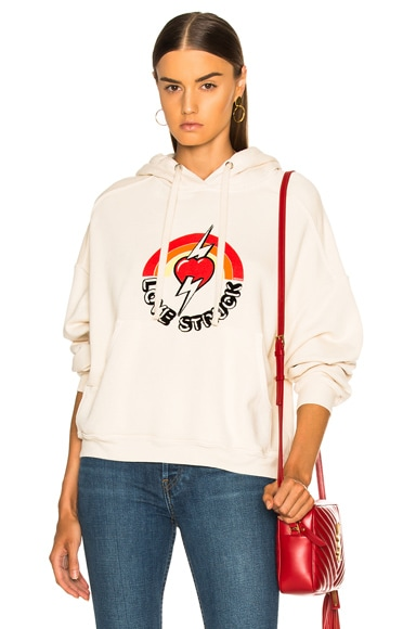 Oversized Love Struck Graphic Hoodie