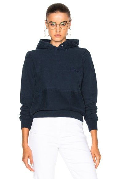 RE/DONE Standard Hooded Champion Sweatshirt in Navy