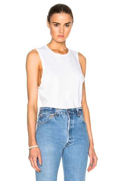 RE/DONE Muscle Tee in Vintage White