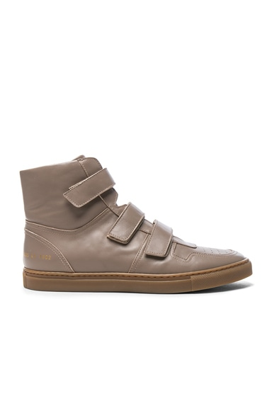 x Common Projects Velcro Leather High Tops