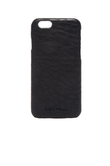 Rick Owens Leather iPhone 6 Case in Black