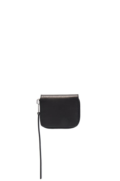 Rick Owens Zipped Credit Card Holder in Black
