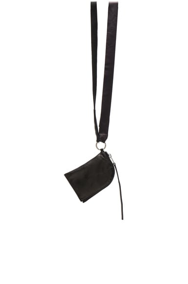 Rick Owens Neck Wallet in Black