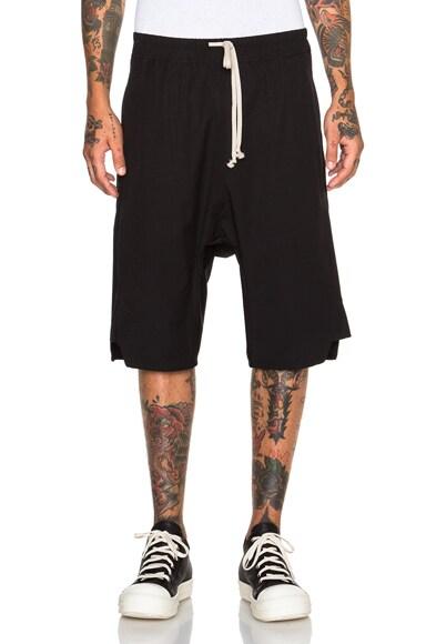 Rick Owens Basket Swinger Shorts in Black