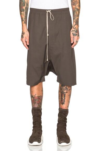 Rick Owens Rick Pod Shorts in Dark Dust