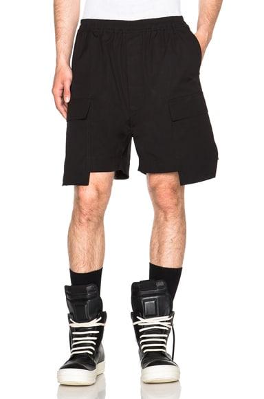 Rick Owens Drawstring Cargo Boxers in Black