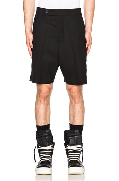 Rick Owens Easy Astaires Shorts in Black