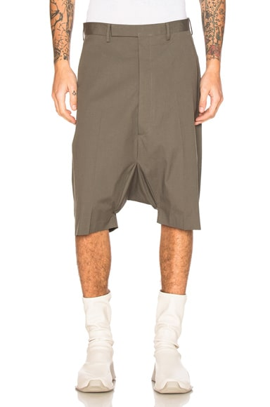 Rick Owens Tailored Podshorts in Euca