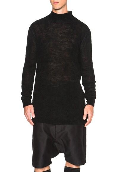 Rick Owens Oversized Turtleneck in Black