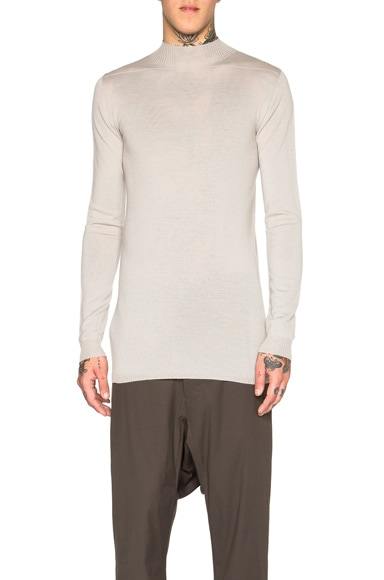 Rick Owens Cashmere Level Lupetto in Pearl