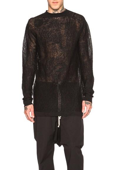Rick Owens Oversized Turtle Foam Sweater in Black