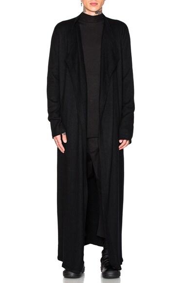 Rick Owens Cashmere Bathrobe in Black